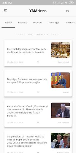 YAMNews - Latest news and headlines from Moldova screenshots 3