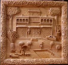 Photo: Para esta obra se utilizaron tablones de 9 cm. de grosor. Tamaño: 110 x 118 cm. || Talla en madera. Woodcarving.   Puedes conocer más de este artista en el blog: http://tallaenmadera-woodcarving-esculturas.blogspot.com/