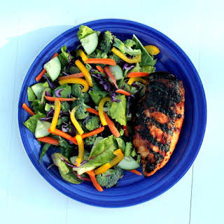 Sweet Chili Grilled Chicken Salad.
