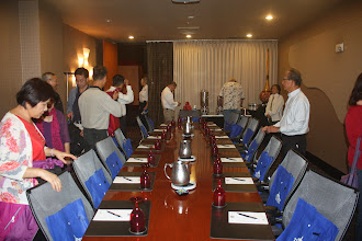 Photo: The conference room where we met to discuss police exchange and cultural exchange.