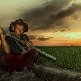 Farmer by Premtawi Thinkfoto - People Portraits of Men ( body art, human interest, people, culture, hyper portrait )
