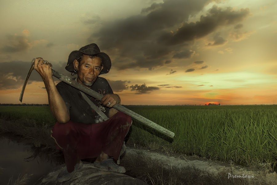 Farmer by Premtawi Thinkfoto - People Portraits of Men ( body art, human interest, people, culture, hyper portrait )