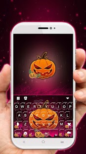 Purple Halloween Keyboard Theme - náhled