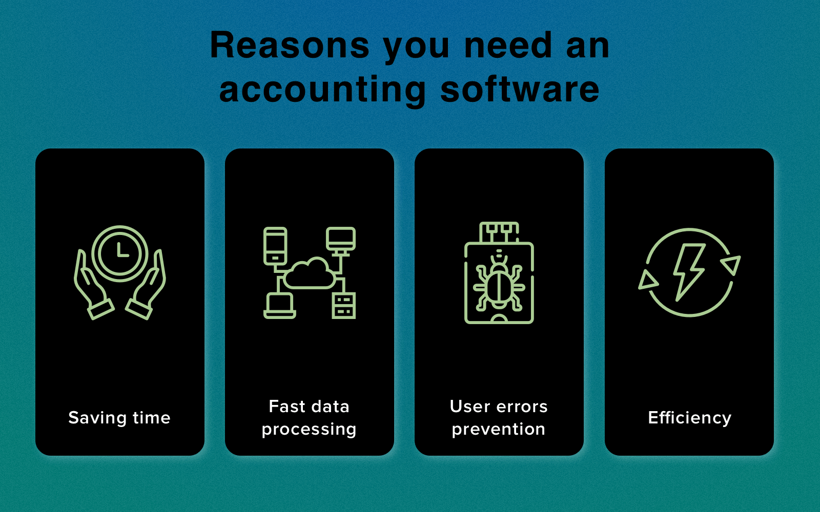 Accounting software advantages