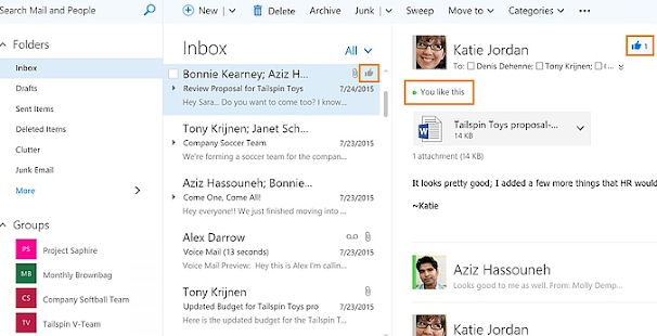 Mail Data Microsoft Outlook tips - náhled