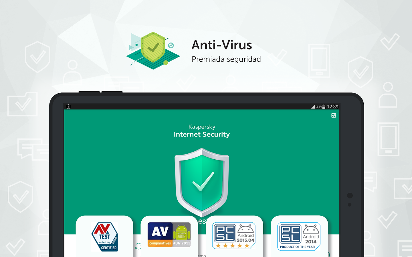 Kaspersky Antivirus & Security: captura de pantalla
