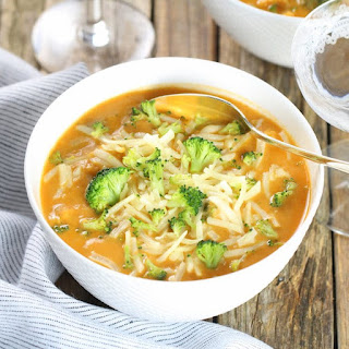 Smoky Cheesy Cauliflower and Broccoli Soup.