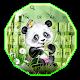 Cute Panda Bamboo Keyboard Theme APK