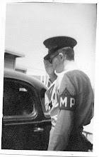 Photo: Marine Guard at the Chase's Main Gate salutes incoming officer. Circa '43-44 Photo Courtesy Don Kochi