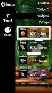Hodiny a Počasí widgety lázně - náhled