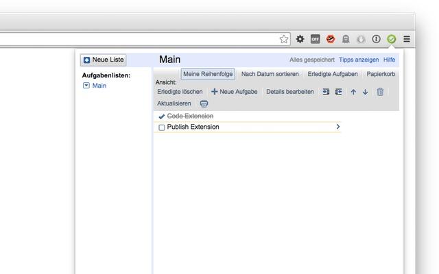 Google Tasks Quick Access