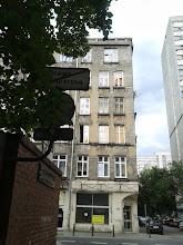 Photo: Typical, gray, bleak Soviet-era building.
