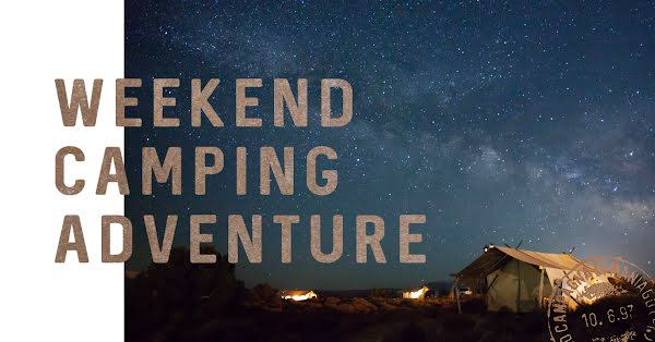Weekend Camping Adventure - Facebook Event Cover Template