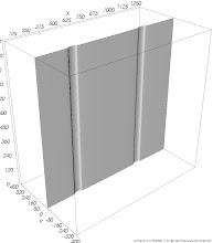 Photo: Temperaturfläche (Isofläche) Fläche gleicher Temperaturwerte im Bereich von Wärmebrücken