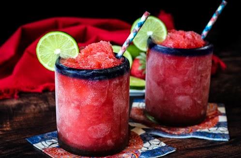 Strawberry Lime Slush