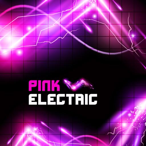 Pink Electric Theme Keyboard