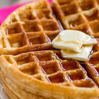 Buttery Golden Buttermilk Waffles.