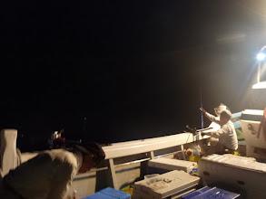 Photo: 日も落ちて、「夜釣り」スタート!