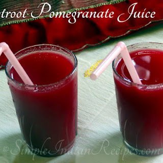 Beetroot Pomegranate Juice.