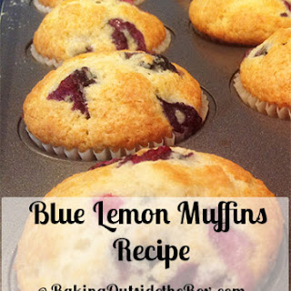 Blue Lemon Muffins Recipe (Scratch)