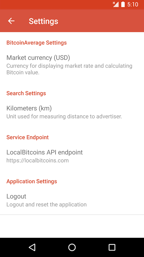 Local Trader for LocalBitcoins- screenshot