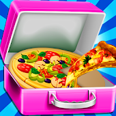 cheese pizza lunch box - cooking game for kids