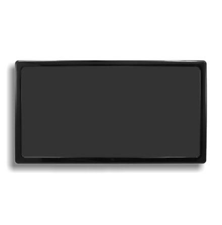 DEMCiflex magnetisk filter 2x180 mm, rektangulær, sort