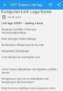 OST Drama Korea Lirik lagu - náhled