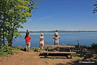 Photo: Looking out at Lake Champlain at Grand Isle State Park by Jennifer Minehart