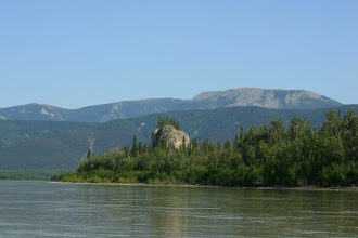 Photo: Yukon River. Old Woman Rock.