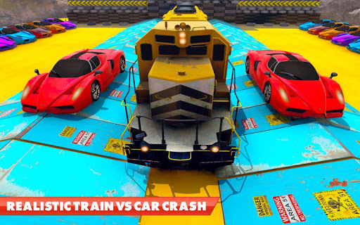 Train Vs Car Crash: Racing Games 2019 android2mod screenshots 5