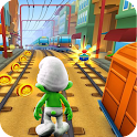 Subway Smurf surf run icon