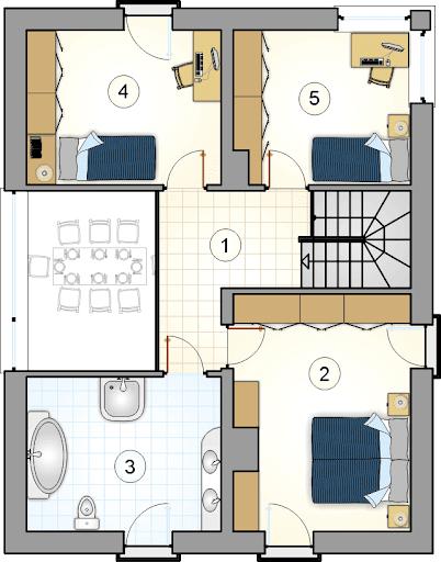 Domus IV - Rzut piętra