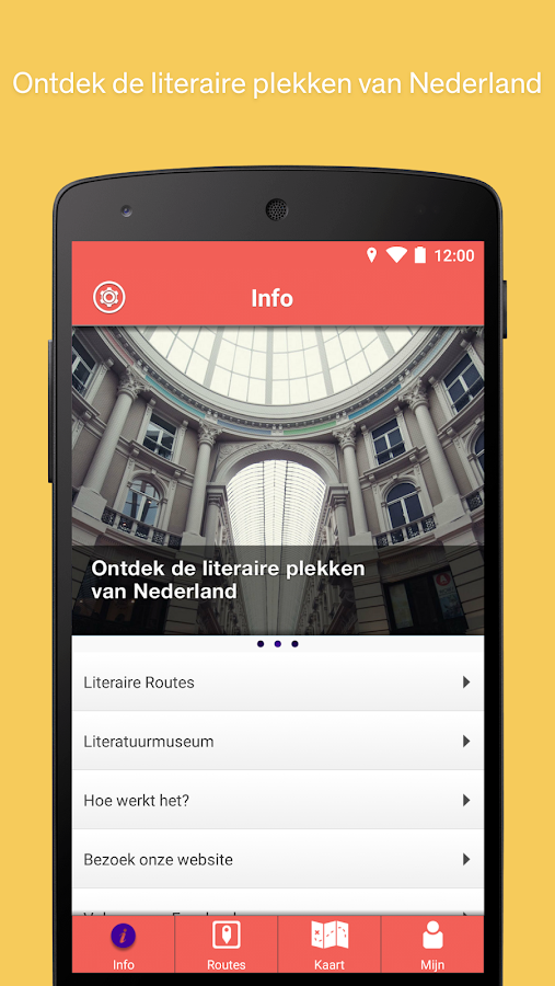 Literaire Routes- screenshot