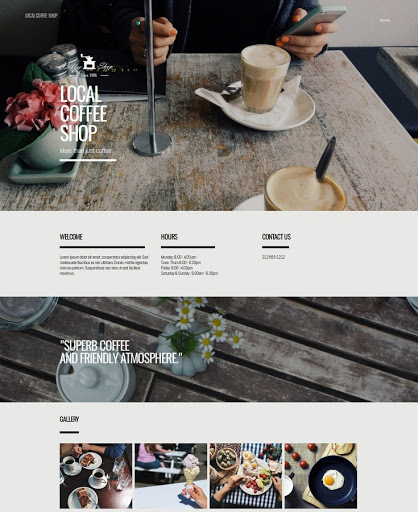Build a Coffee shop rustic Website
