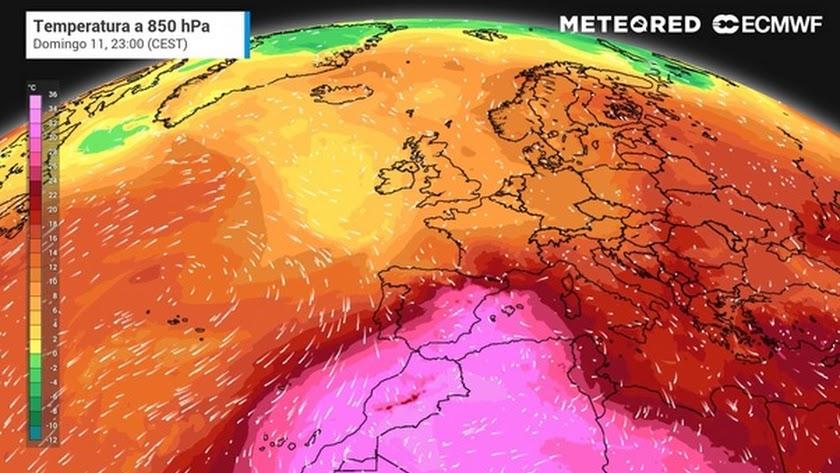 Mapa de temperaturas.