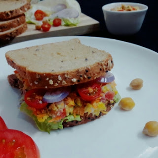 Mashed Chickpeas Sandwich.