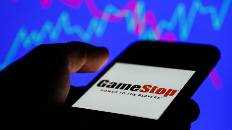 GameStop logo.