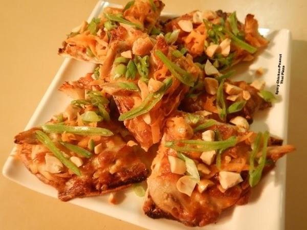 Spicy Chicken-peanut Thai Pizza Recipe