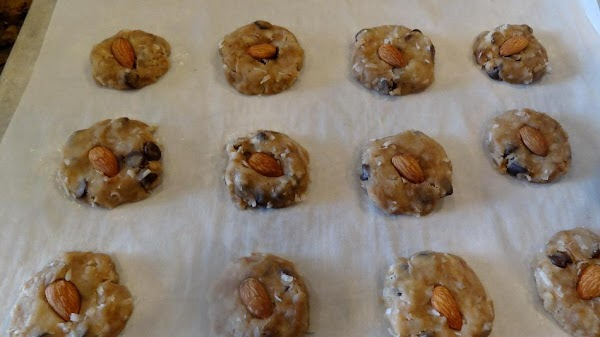Place the cookies on the parchment paper about 1 1/2 inches apart.