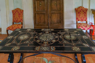 "Photo: Table with sword in ""drawing room"" on the first floor (2nd floor for us)"