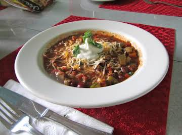 Vegetarian Chili (so good it fooled meat eaters)