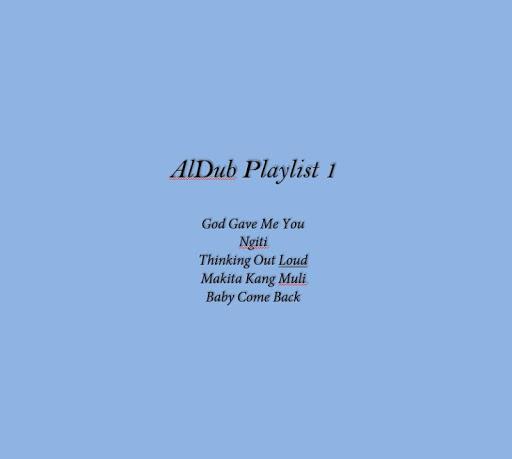 AlDub Playlist 1 Lyrics