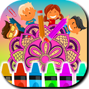 Mandalas Kids Coloring Book