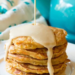 Easy Carrot Cake Pancakes with Cream Cheese Maple Syrup Recipe