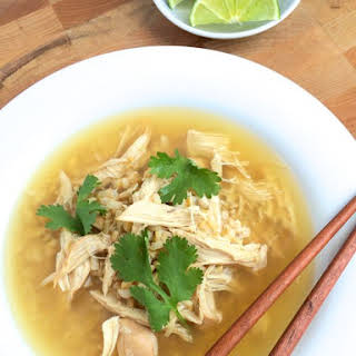 Crock Pot Ginger Chicken and Rice Soup.