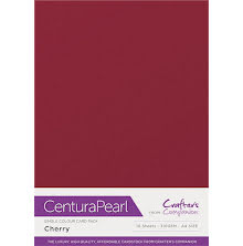 Crafters Companion Centura Pearl Card Pack A4 10Pkg 300gr - Cherry