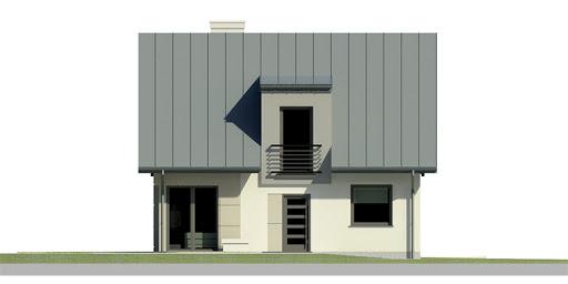 Dom przy Cyprysowej 22 - Elewacja przednia