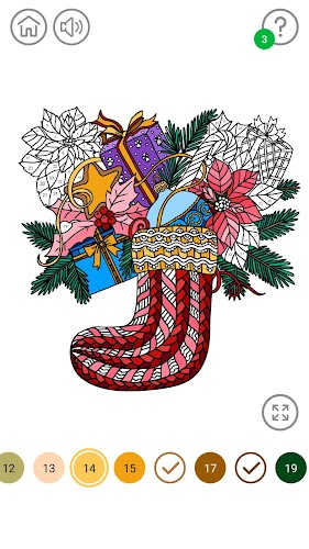 Indir Christmas Color By Number Christmas Coloring Book Apk Son