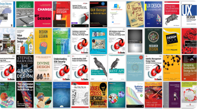 A collage of colorful book covers.